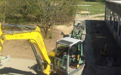Arbeiten im Schulgarten